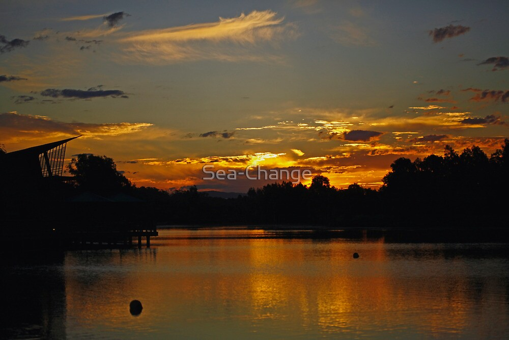 Sunset over the Lake by Sea-Change