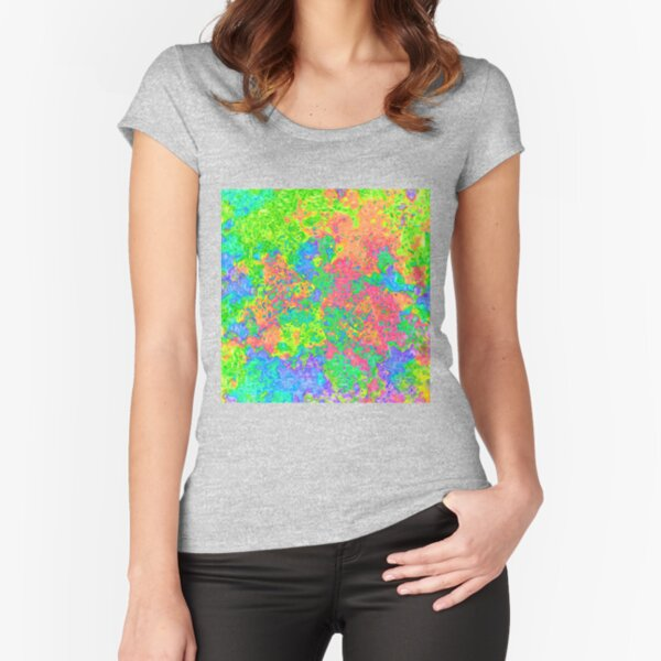 Abstract pattern Fitted Scoop T-Shirt