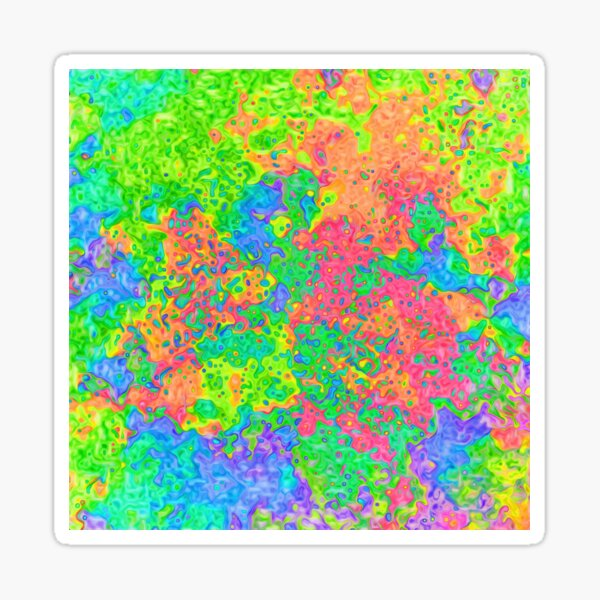 Abstract pattern Glossy Sticker