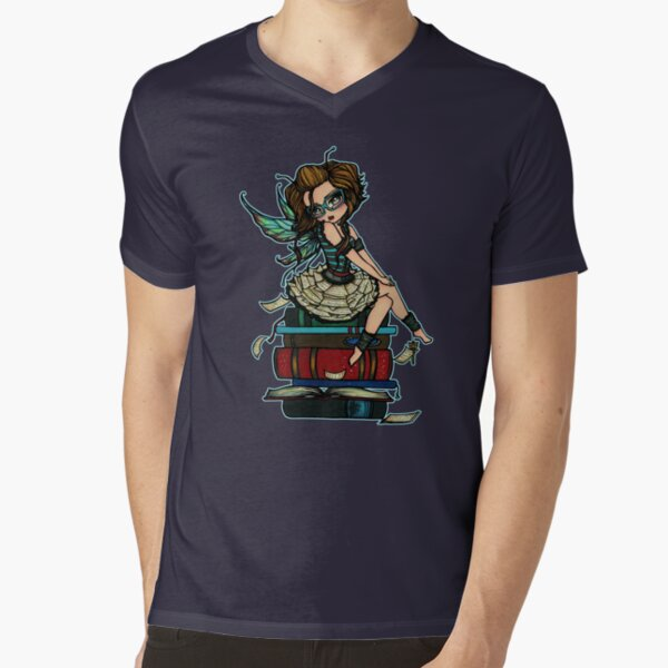 Library Fairy  V-Neck T-Shirt