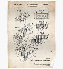 Lego Toy Blocks US Patent Art Poster