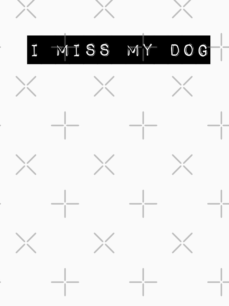 I Miss My Dog Tail Wagging Memory Dog Lover Print by thespottydogg