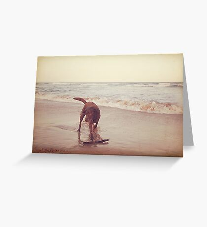 Vintage Beach Greeting Card