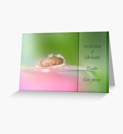 Dew drop baby Greeting Card