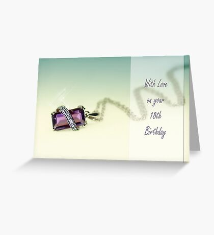 Amethyst necklace Greeting Card