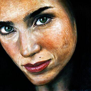 Jennifer Connelly Portrait by krimalkin