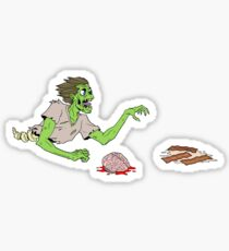 Bacon Zombie Sticker