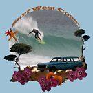 Surf West Coast Tee by Leonie Mac Lean