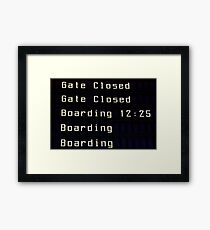 Airport information board. Framed Print
