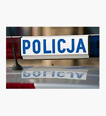Police car. Photographic Print