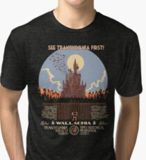 See Castlevania First! Tri-blend T-Shirt