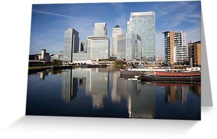 Canary Wharf Skyline by bikeworldtravel