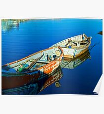 Peggy's Cove Row Boats Poster