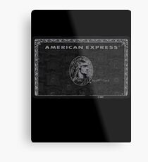 American Express Black Metal Print