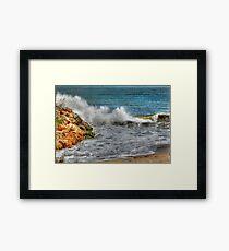Mandurah Waves Framed Print
