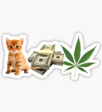 Pussy Money Weed Sticker