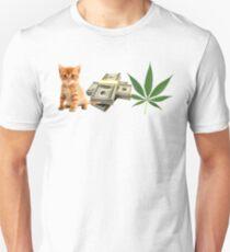 Pussy Money Weed Unisex T-Shirt