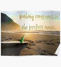 The Perfect Wave, surf art Poster