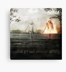 Here We Divide Canvas Print