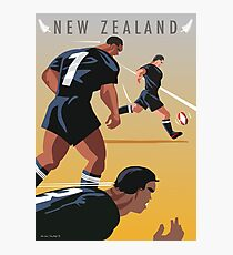 Kickoff  Rugby New Zealand Photographic Print