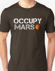 Occupy Mars Black Unisex T-Shirt
