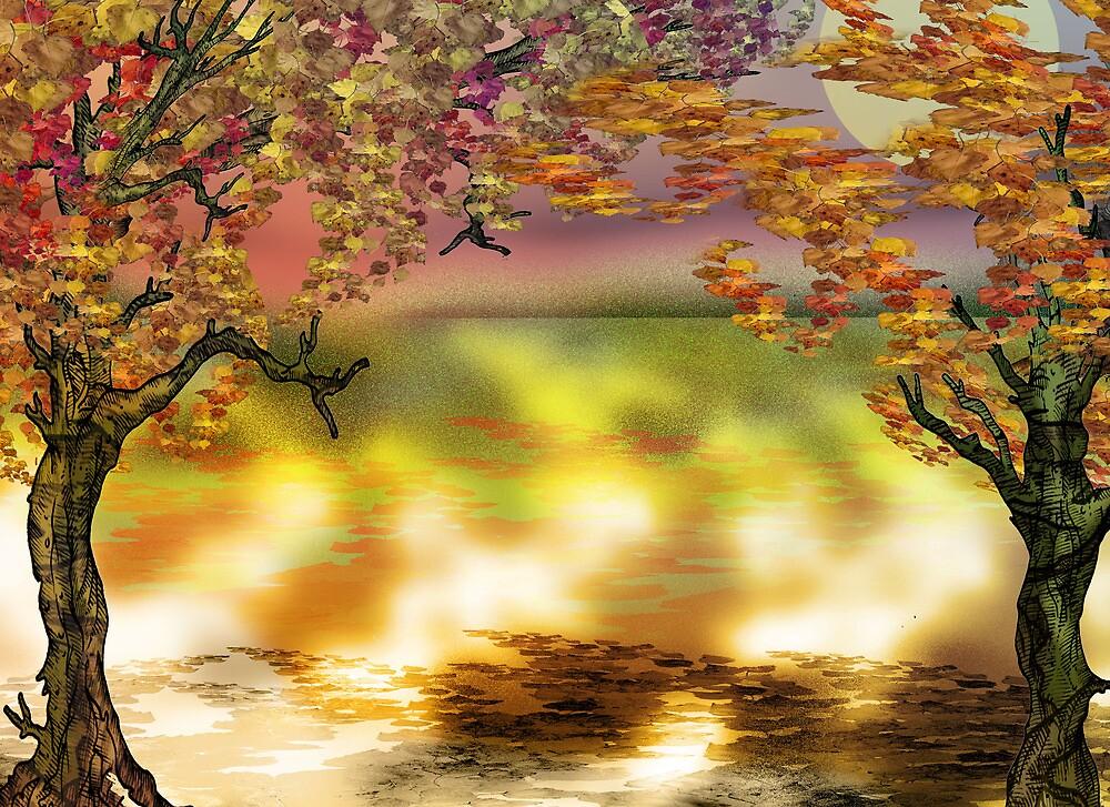 Autumn Tree Print by Grant Wilson
