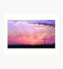 Sunset Streaks Art Print