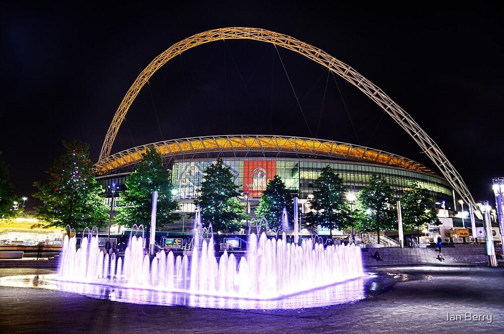 Wembley Stadium & Fountain by Ian Berry
