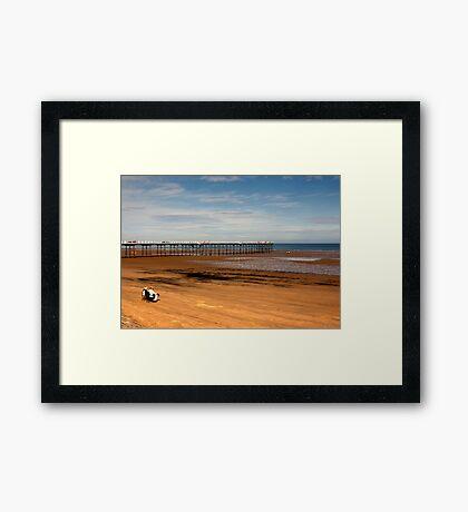 Picnic on the Beach Framed Print