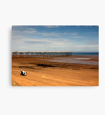 Picnic on the Beach Canvas Print