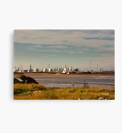 Industry on the River Tees Canvas Print