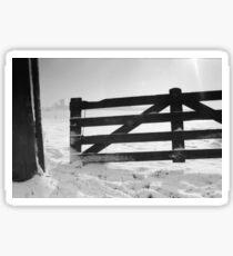 Fence in snow landscape Sticker