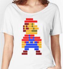 8-bit brick mario  Women's Relaxed Fit T-Shirt