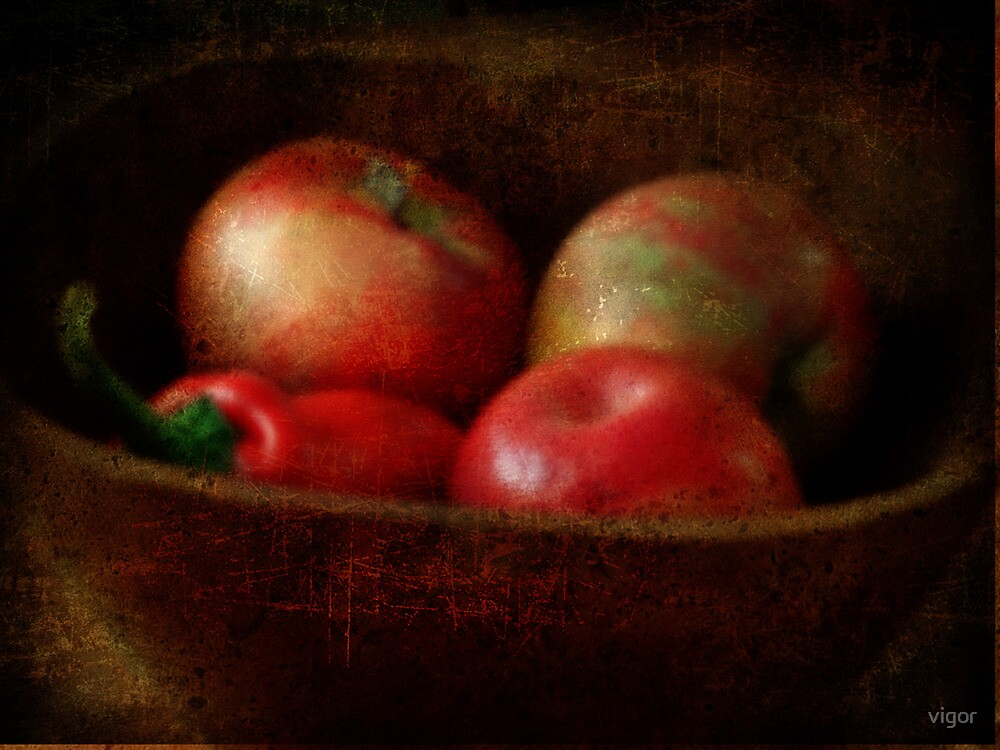 Apples & a Red Pepper by vigor