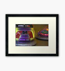 Bumper cars. Framed Print