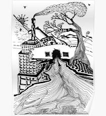 Modern Landscape Poster