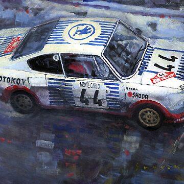 Skoda 130 RS #44 Monte Carlo 1977 by shevchukart