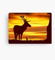 Deer at Dusk Canvas Print