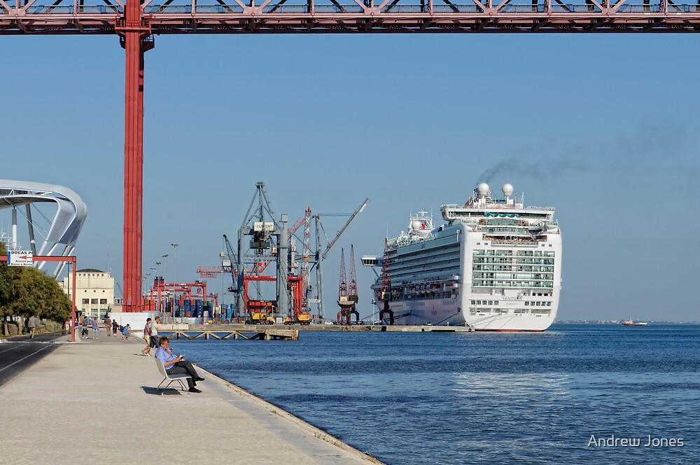 Cruise Ship Ventura Port Of Lisbon Portugal By Andrew Jones - Lisbon cruise ship port