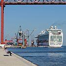 cruise ship Ventura, Port of Lisbon, Portugal by Andrew Jones