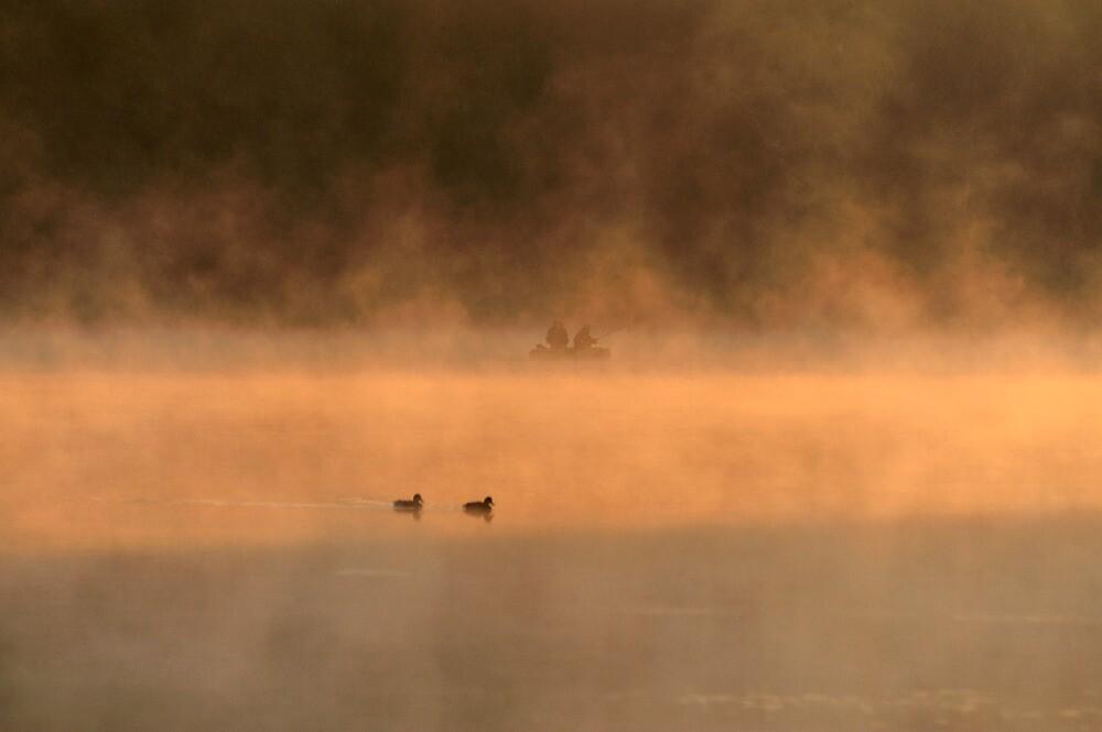 Sunrise on the Lake by Kasia Nowak