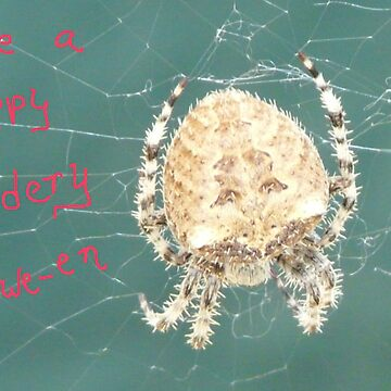 Oscar, The Garbage Can Spider,Card by MaeBelle