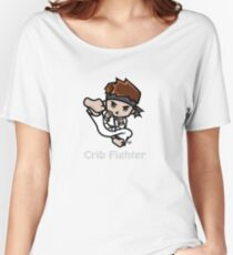 Martial Arts/Karate Boy - Jumpkick - Crib Fighter (light) Women's Relaxed Fit T-Shirt