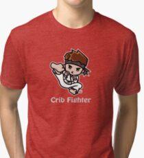 Martial Arts/Karate Boy - Jumpkick - Crib Fighter (light) Tri-blend T-Shirt