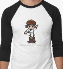 Martial Arts/Karate Boy - Crane one-legged stance - Bodyguard Men's Baseball ¾ T-Shirt