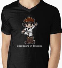 Martial Arts/Karate Boy - Crane one-legged stance - Bodyguard Mens V-Neck T-Shirt