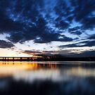 Sunset Over Lake Wallula by Jennifer Hulbert-Hortman
