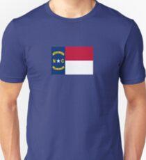North Carolina USA State Charlotte Flag Bedspread T-Shirt Sticker Unisex T-Shirt