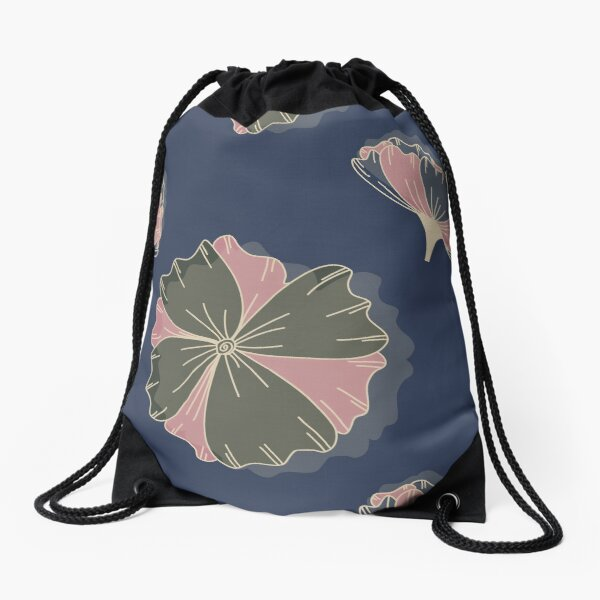Floral Butterfly Collection Spring Seamless Surface Pattern Drawstring Bag