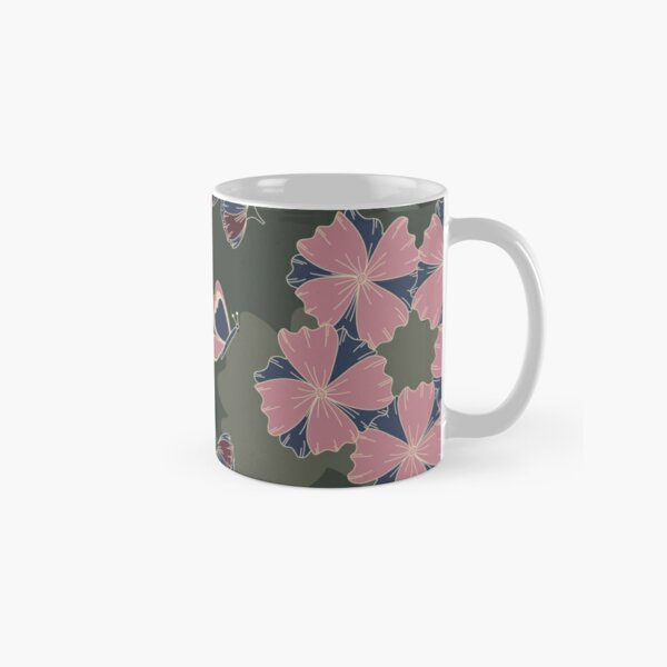 Floral Butterfly Collection Spring Seamless Surface Pattern Classic Mug